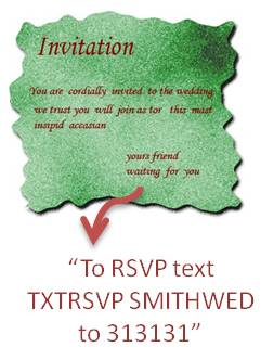 TXTRSVP Invitation